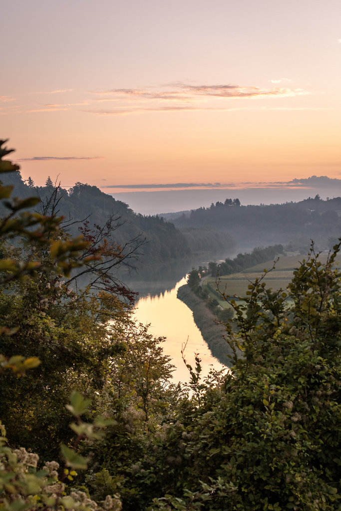 Sunrise of the River Aare